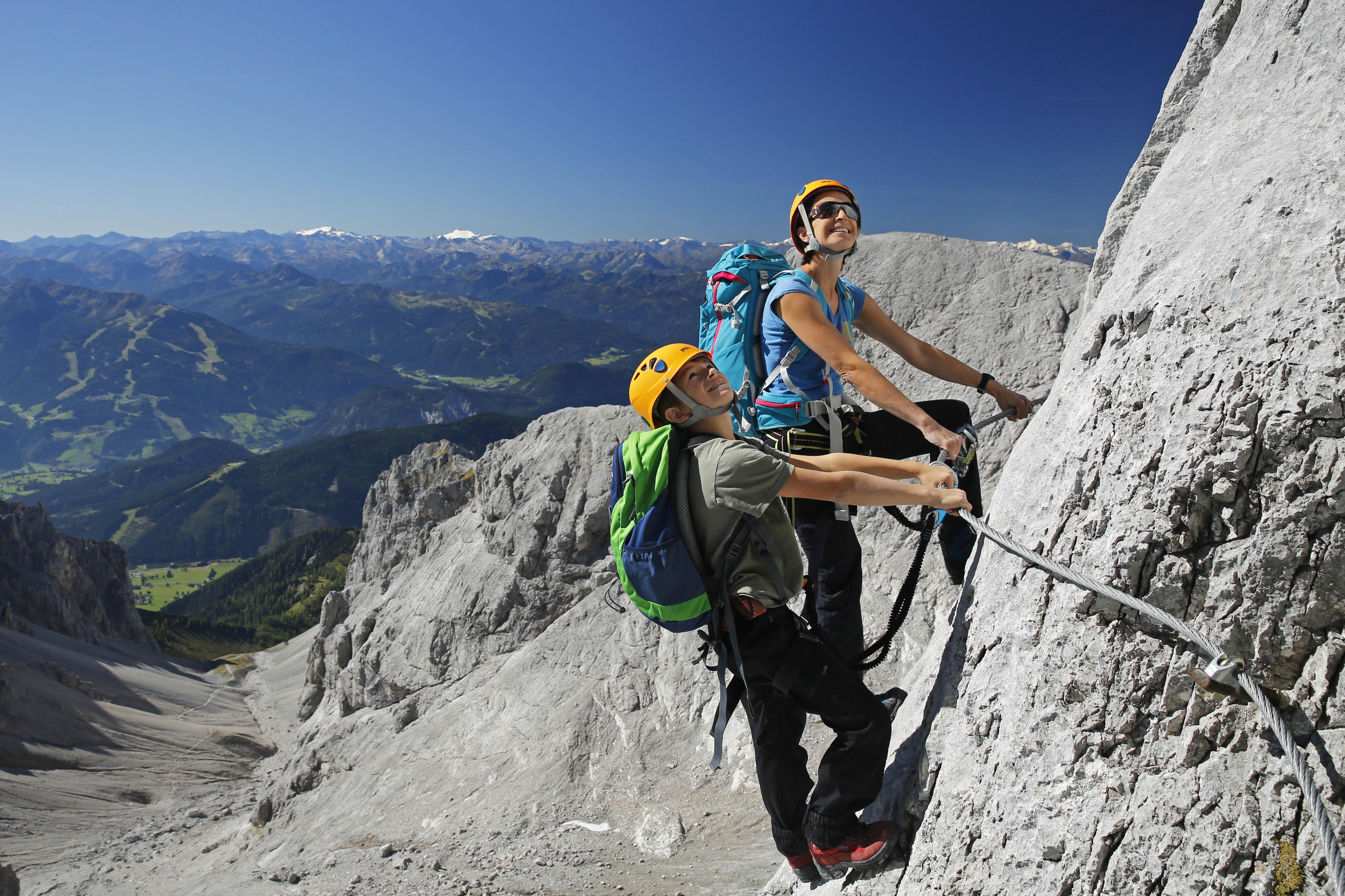 Klettersteig Leopoldsteinersee : Klettersteige am dachstein bergführer schladming